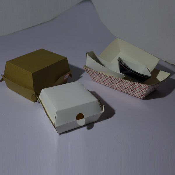 kraft paper hamburger box and bag manufacturer with hamburger paper or greaseproof paper accessory
