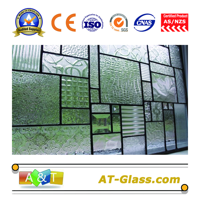 3mm 4mm 8mm Patterned glass for door window Furniture