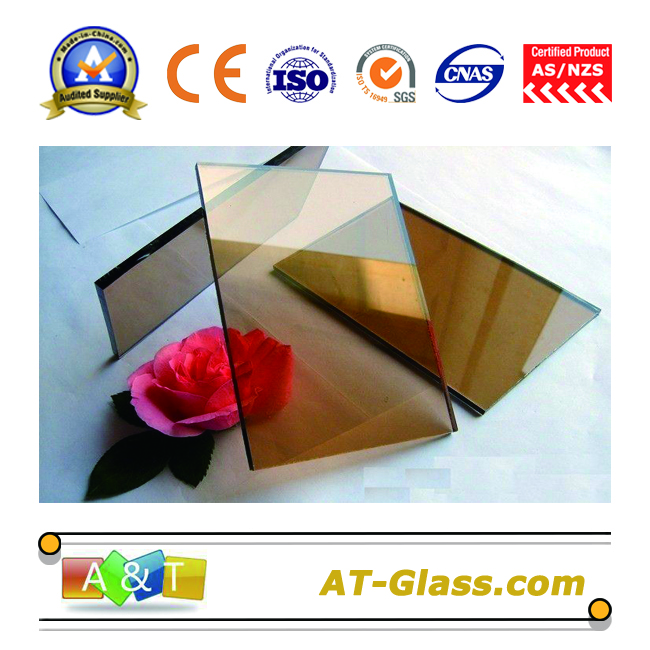 4mm 6mm 10mm Bronze float glass color glass used for building Curtain wall
