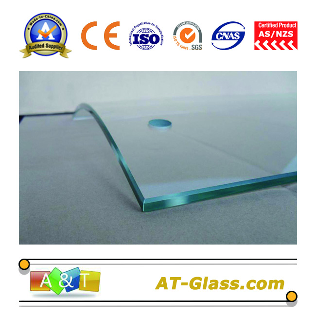 3-19mm Bent tempered glass proessed glass  used for Furniture bathroom table glass fence Balustrades etc
