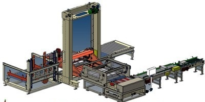 Automatic palletizer for box, bag or bottle