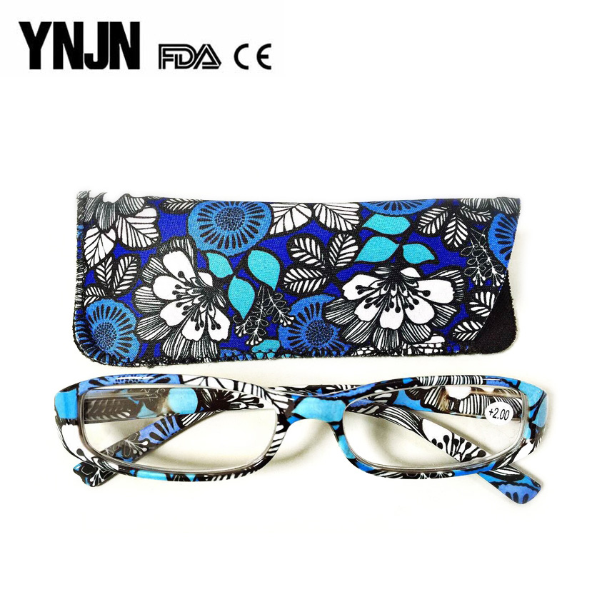 YNJN cheap wholesale custom logo colorful fashion women reading glasses