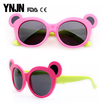 Fast delivery YNJN cheap wholesale plastic frame baby kid sunglasses