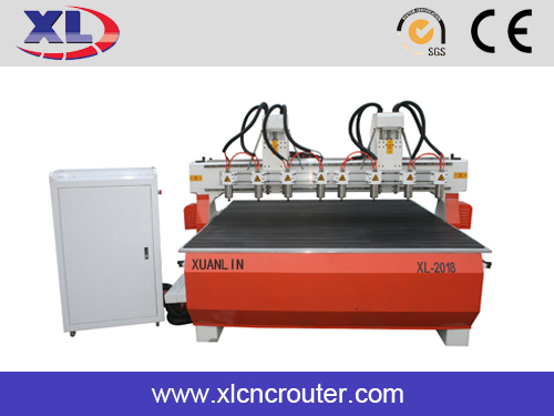 Jinan five axis multi-spindle wood relief engraving cnc router machines XL 3018