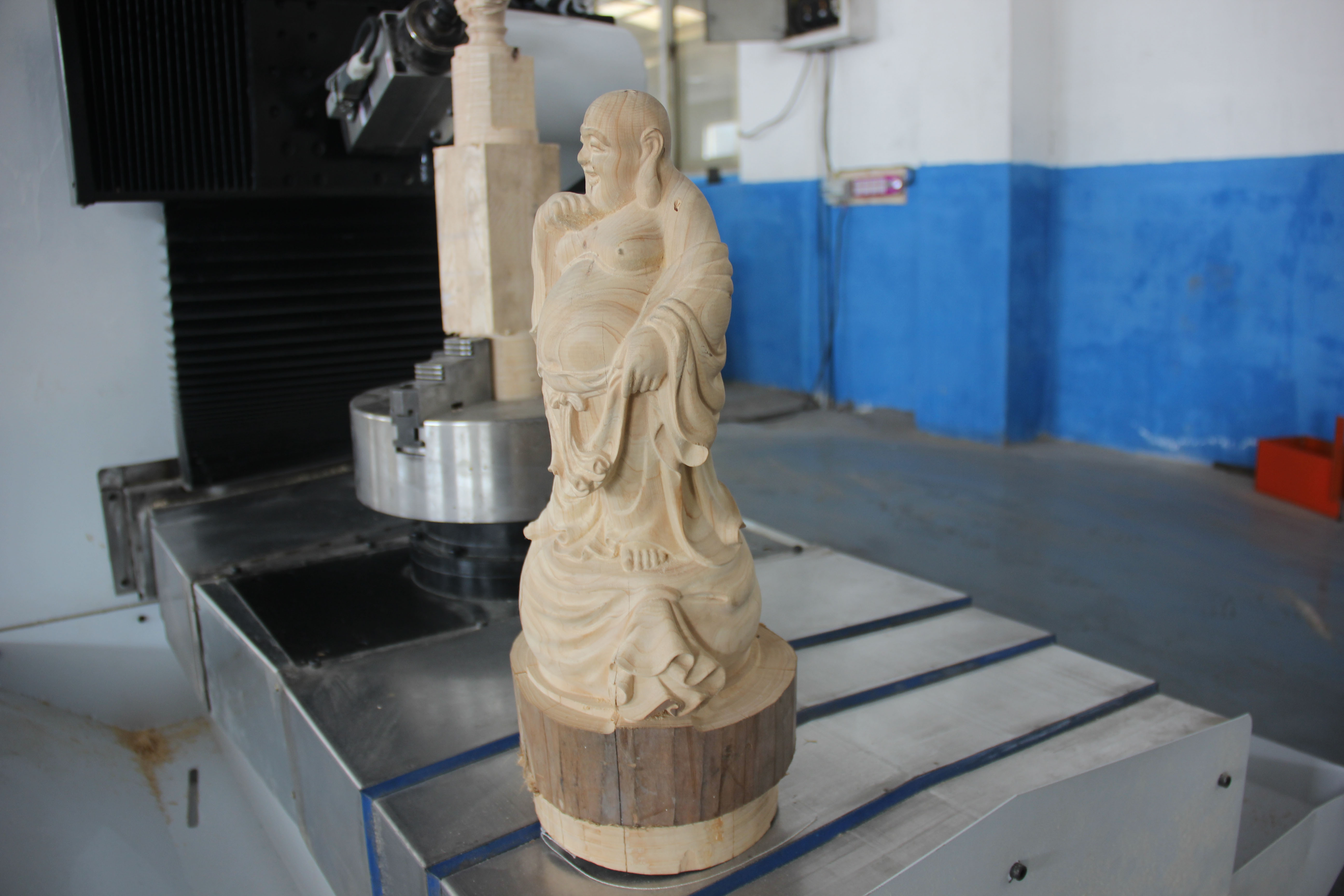 XL-8050 5 Axis wood cylinder engraving CNC routers machine jinan