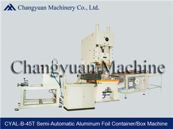 Semi Automatic Aluminum Foil Container Making Machine