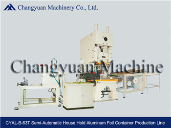 63T Semi Automatic Aluminium Foil  Food Container/Dishes Making Machine