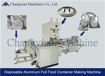 80T Fully Automatic aluminum foil food container production line