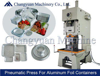 63T Pneumatic Aluminium Foil Container Punching/Press Machine