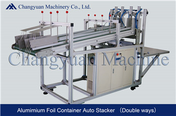 Aluminium Foil Container double ways automatic stacker