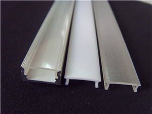 Frosted or satin acrylic profile for led lighting