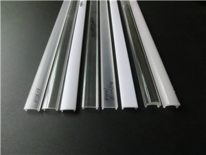 Acrylic or polycarbonate cover for aluminum led profile