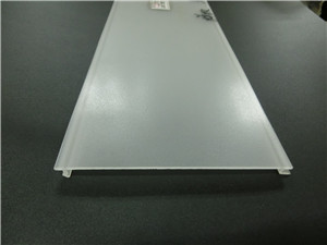 frosted polycarbonate diffuser for aluminum led profile