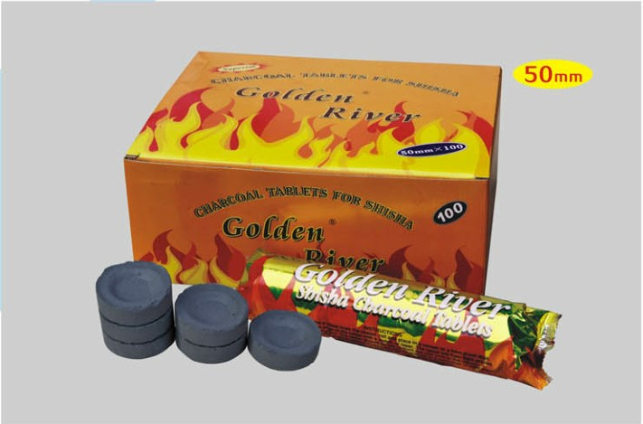 33/40mm diameter Golden River Round Charcoal Tablets for shisha  and hookah