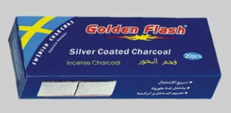 Silver coated charcoal for hookah  and shisha
