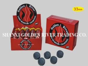Golden River 33mm round charcoal  tablets for shisha and hookah