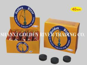 Golden River 40mm round charcoal  tablets for shisha and hookah