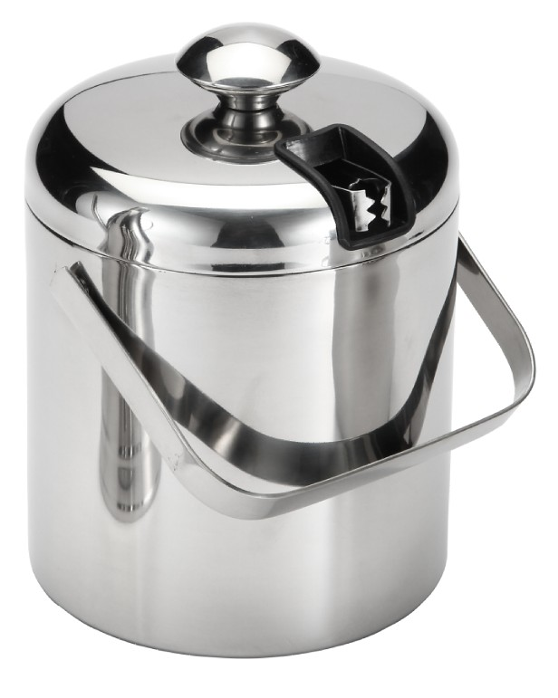 Double Wall Stainless Steel Ice Bucket with Tong