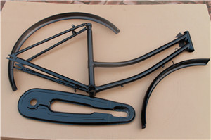 26-24 steel lady frame fork chaincover and mudguard bicycle parts