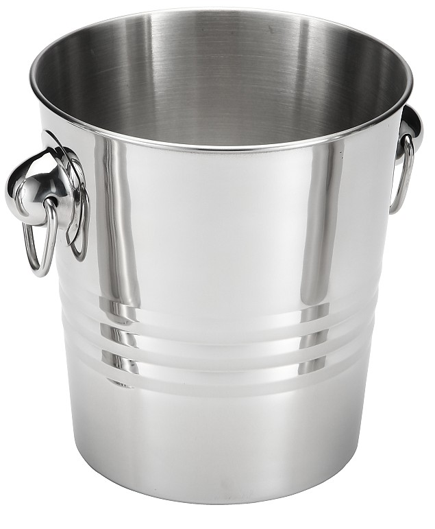 Single wall Stainless Steel Wine beer Cooler Ice Bucket Champagne Cooler with handles