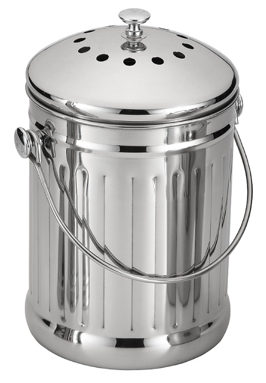 Premium Quality Stainless Steel Compost Bin Kitchen 1 Gallon Compost Pail with Filter