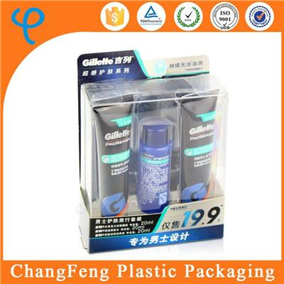 Custom Made Printed Clear Plastic Skin Care Product Bottles Packaging Box