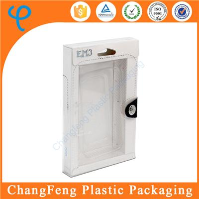 Accept Custom Order Phone Case Packaging Clear Plastic Packaging Box for iPhone