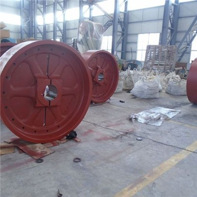 Ductile Cast Iron Flywheel With Sand Casting For Jaw Crusher