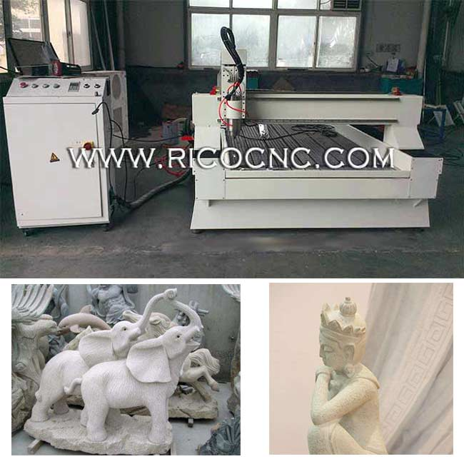 Stone Sculpture Carving Machine Granite Cutting CNC Router Machine S1224C