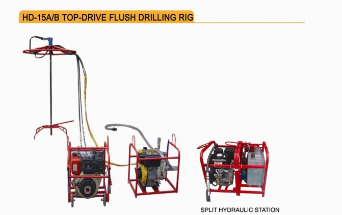 HD-15A/B TOP-DRIVE FLUSH DRILLING RIG