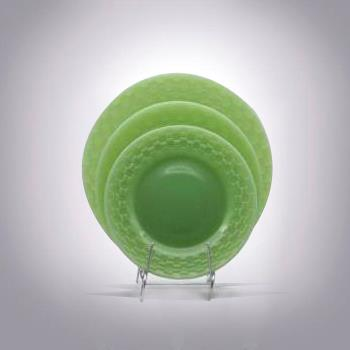 Glass Plates Set|hand Pressed Jadeite Glass Plates for Sale