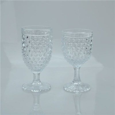 Short Stem Small Wine Glasses|clear Machine Pressed Goblets for Sale