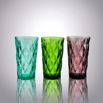 Sea Green|smoke Grey Highball Glasses|coloured Glass Tumblers Suppliers