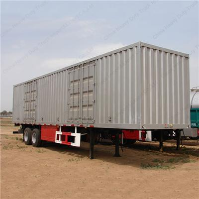 China Dual Axle Enclosed Trailer 40 Ft Container