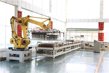 high efficiency PLC control robot stacking system,block making system