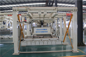 Mobile tunnel kiln scraping type upper and lower stacking machine