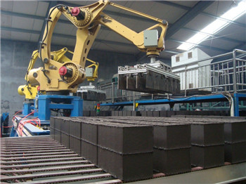 Auto brick setting robot machine for clay brick production line
