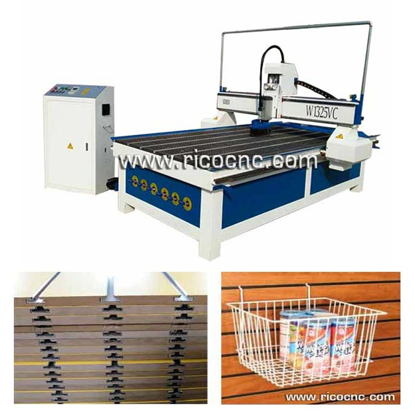 Slatwall Carving CNC Router MDF Panels Cutting Machine W1325VC