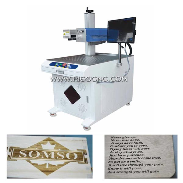 RF CO2 Laser Marking Machine Lazer Mark Wood RC-RF30