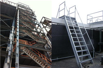 Steel Inclined Ladder with Stair Treads