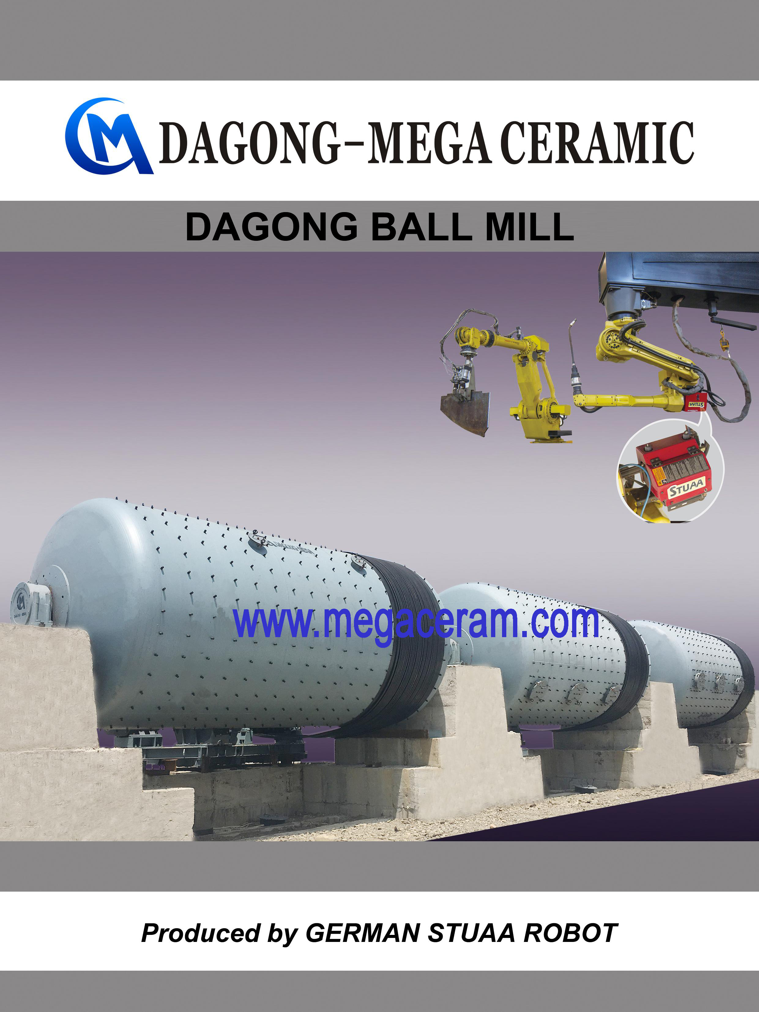 Biggest and best Chinese batch and continuous ball mill manufacturer/supplier for ceramic and feldspar