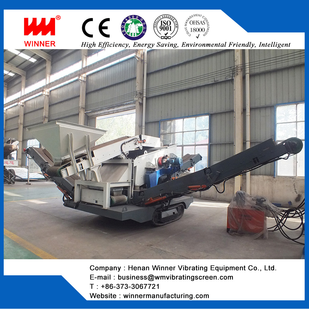 China crawler mobile crushing plant for city infrastructure