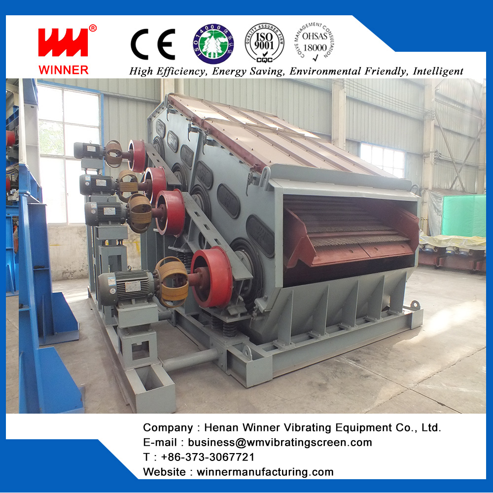 Linear vibrating screen for mining and metallurgy industry