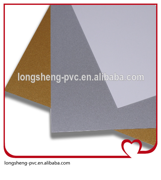 white gold and silver inkjet pvc sheet for cards from Longsheng