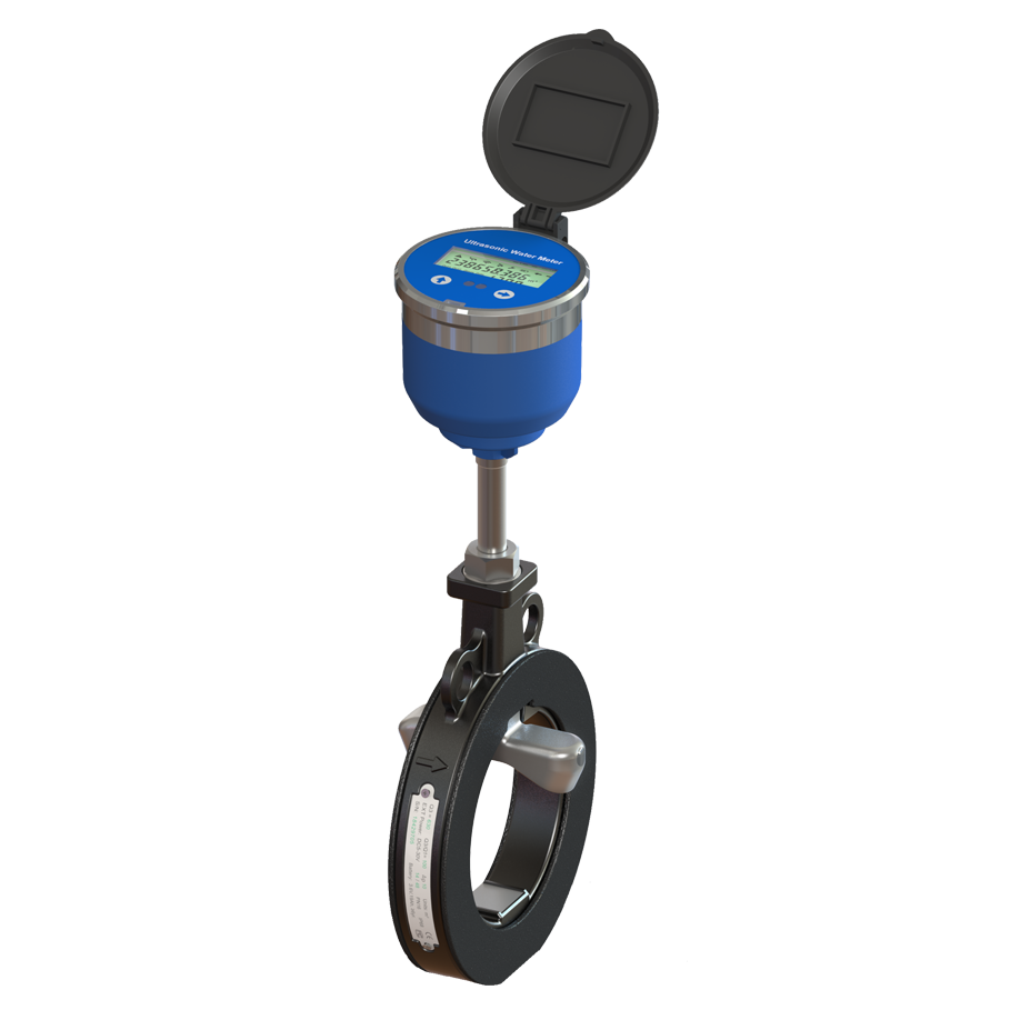 Sandwich ultrasonic irrigation water meter