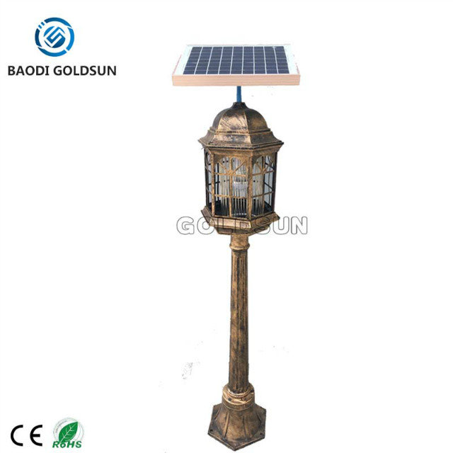 Big power outdoor solar mosquito repeller in golf course, park, yard, square China manufacturer