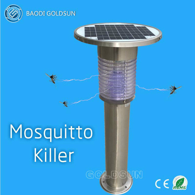 2017 New design outdoor solar  mosquito killer light, in garden, park, yard, square manufacturer