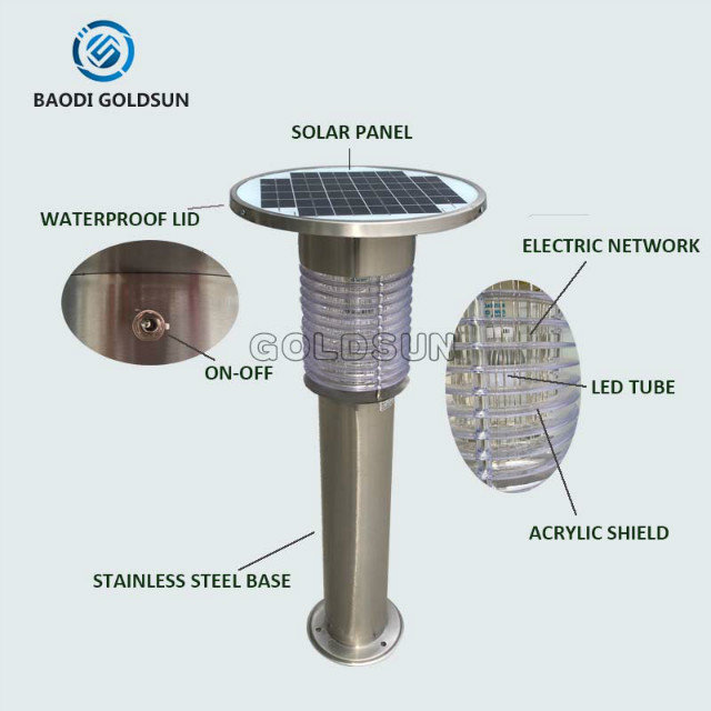 outdoor effective electric shock solar mosquito trap killer light/lamp manufacturer