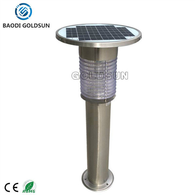 Stainless Steel Solar Mosquito Trap, Lawn/Yard Lamp, Outdoor mosquito control Mosquito Killer Lamp/Light