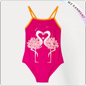Kids Couple Flamingos Bathing Suit